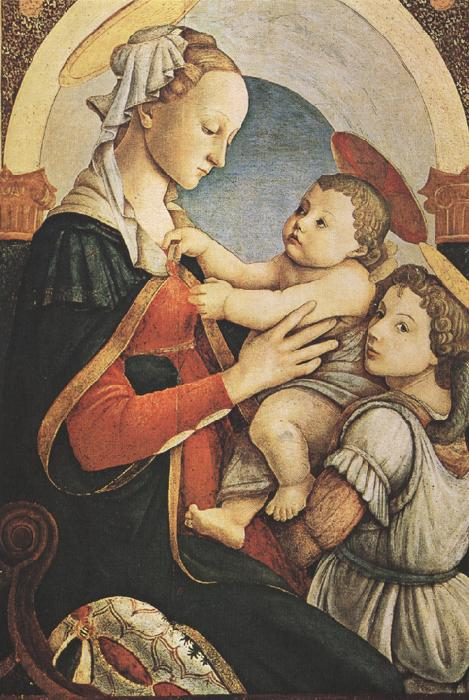 Sandro Botticelli modonna with Child and an Angel (mk36)