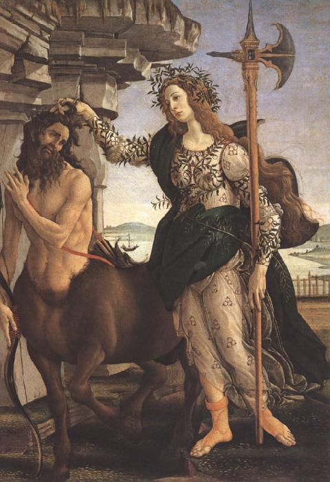 Sandro Botticelli Pallas and the Centaur (mk36)