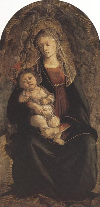 Sandro Botticelli Madonna of the Rose Garden or Madonna and Child with St john the Baptist (mk36)
