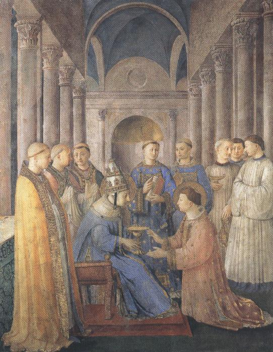 Sandro Botticelli Fra Angelico,Ordination of St Lawrence (mk36)