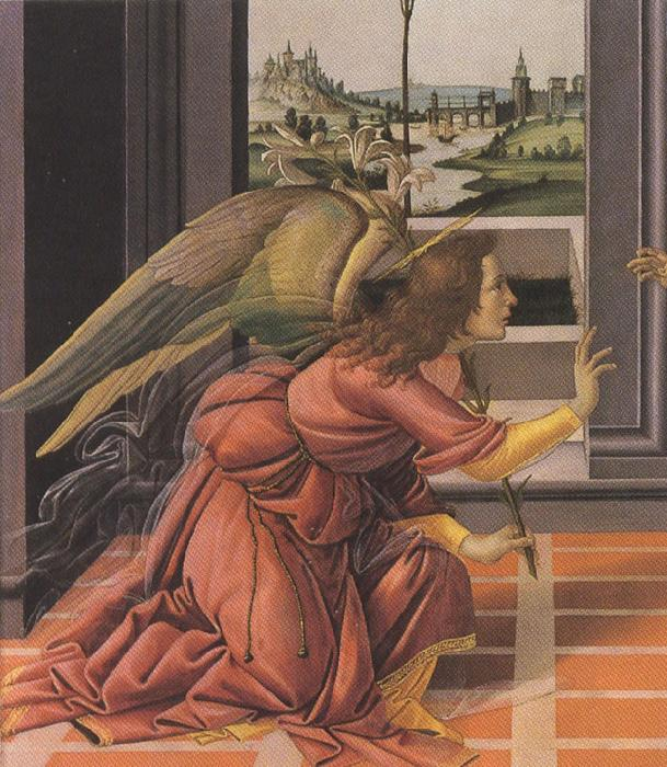 Sandro Botticelli Details of Annunciation (mk36)