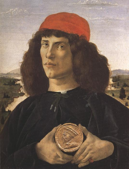 Sandro Botticelli Portrait of a Youth with a Medal (mk36)