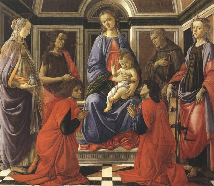Sandro Botticelli Madonna enthroned with Child and Saints (mk36)