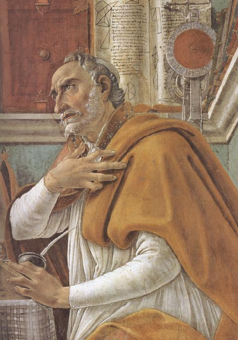 Sandro Botticelli Details of  St Augustine in his Study (mk36)