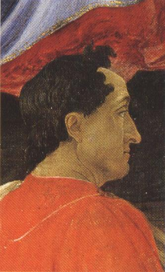Sandro Botticelli Mago wearing a red mantle (mk36)
