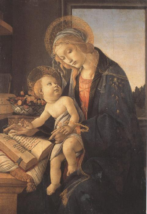 Sandro Botticelli Madonna and child or Madonna of the Bood (mk36)
