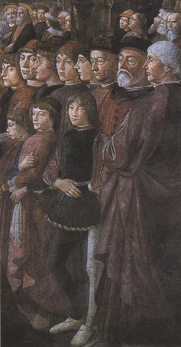 Sandro Botticelli Domenico Ghirlandaio,The Calling of the first Apostles,peter and Andrew (mk36)