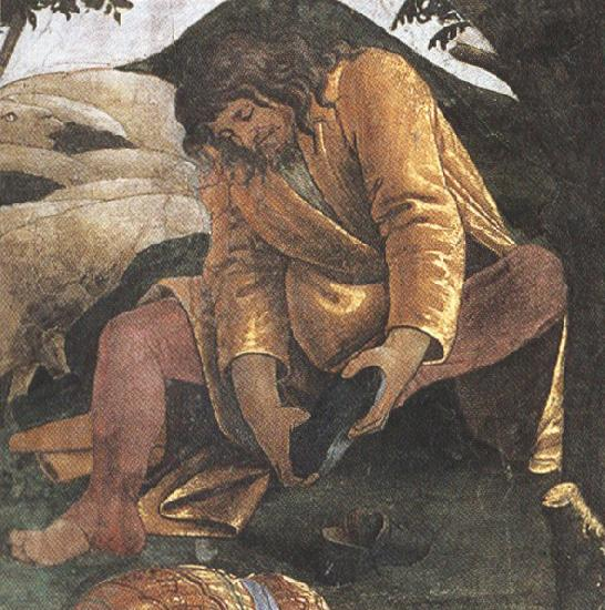 Sandro Botticelli Trials of Moses (mk36)