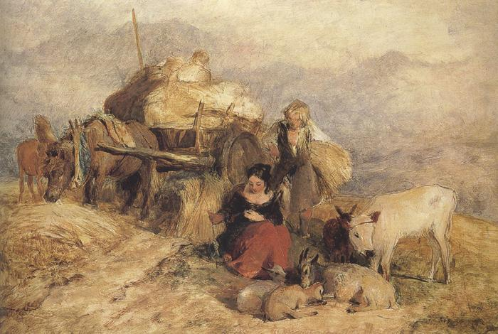Sir edwin henry landseer,R.A. Sketch for Harvest in the Highlands (mk37)