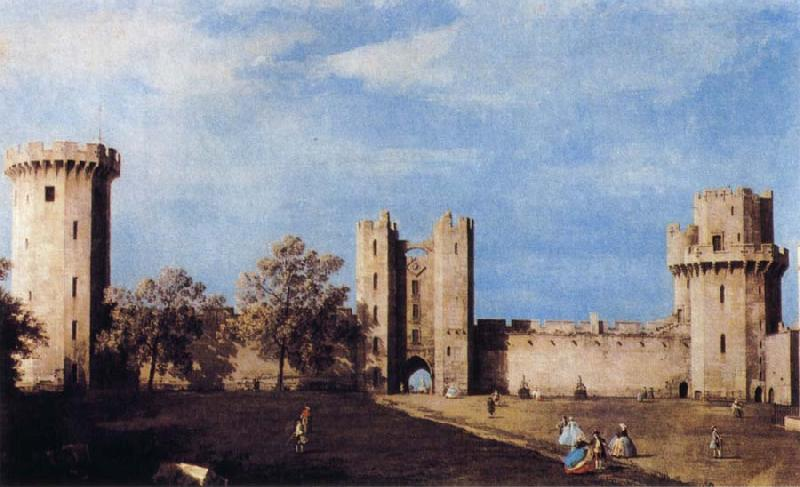 Canaletto The Courtyard of the Castle of Warwick