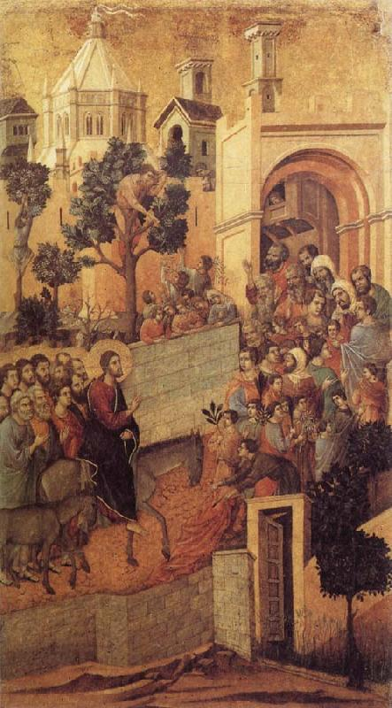 Duccio di Buoninsegna Christ Entering Jerusalem