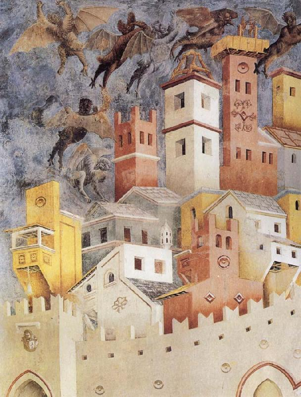 GIOTTO di Bondone The Devils Cast our of Arezzo