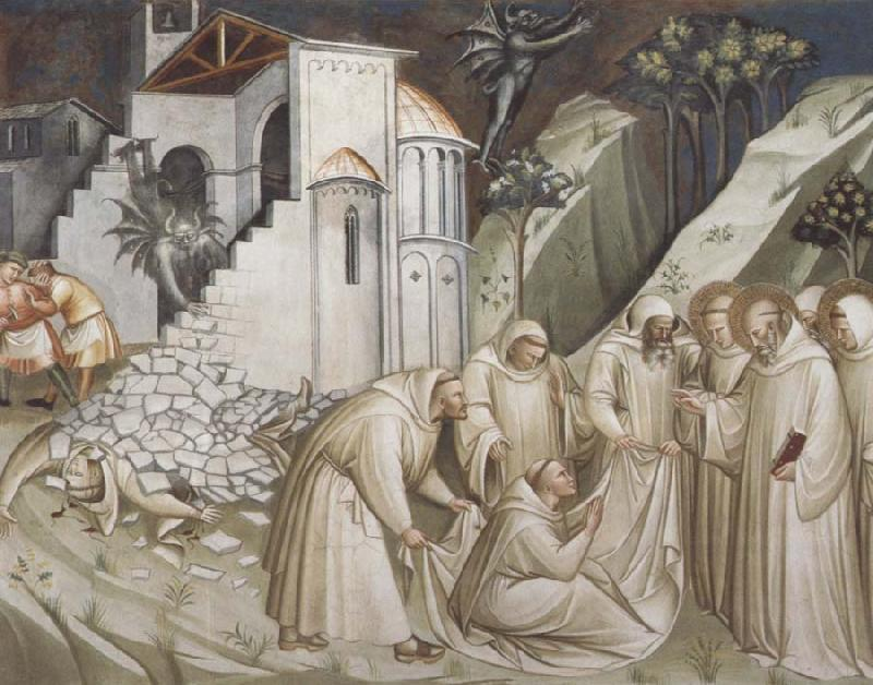 Spinello Aretino St.Benedict Revives a Monk from under the Rubble